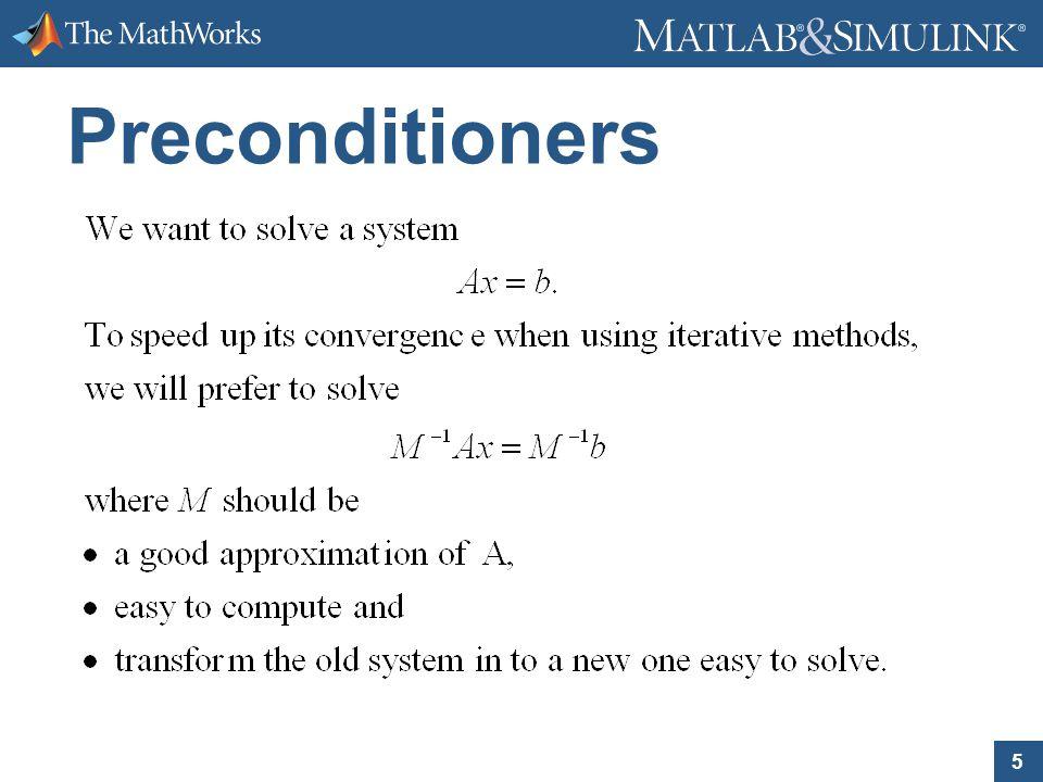 5 Preconditioners