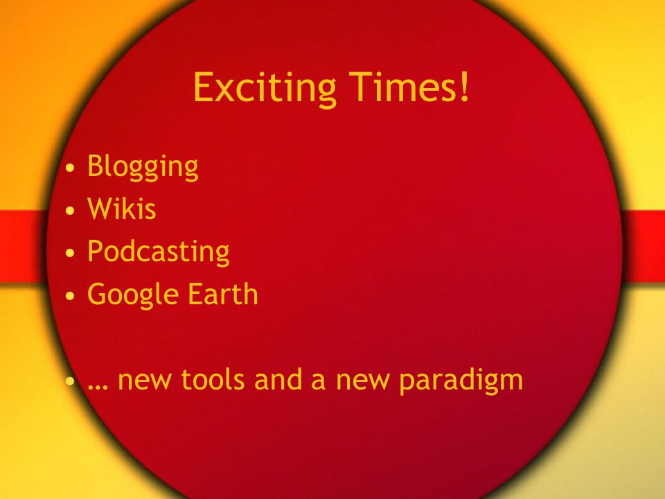 New Paradigm? The 2-way web User-created content Web 2.0