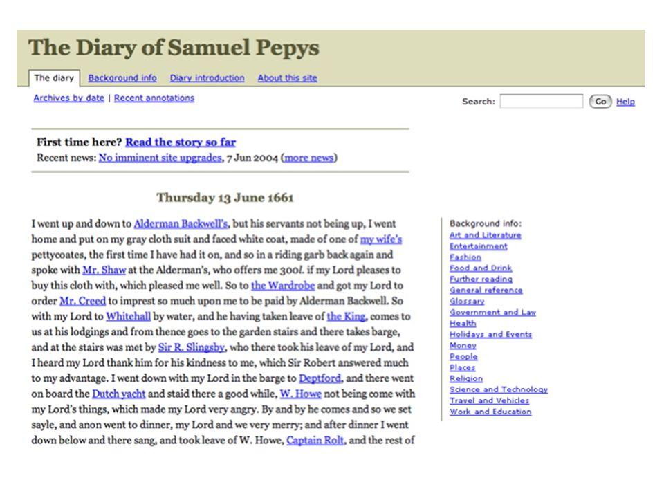 Pepys diary