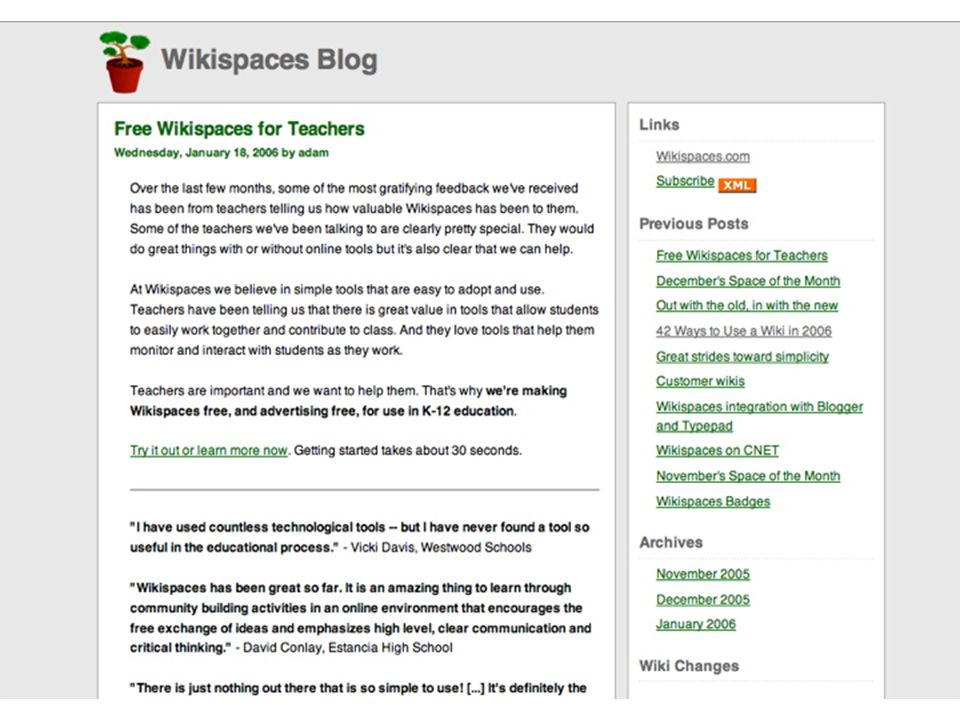 WikiSpaces for K-12