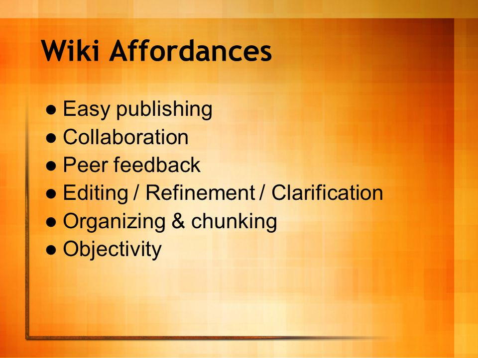Designs for Teaching with Wikis Collaborative Document Micropedias Ant Farms Branching Stories Exegesis