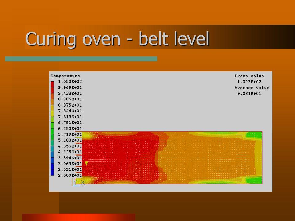 Curing oven - belt level