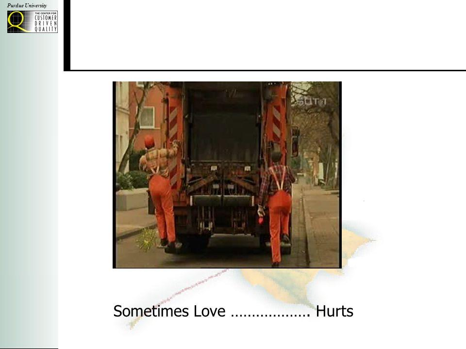 Purdue University Sometimes Love ………………. Hurts