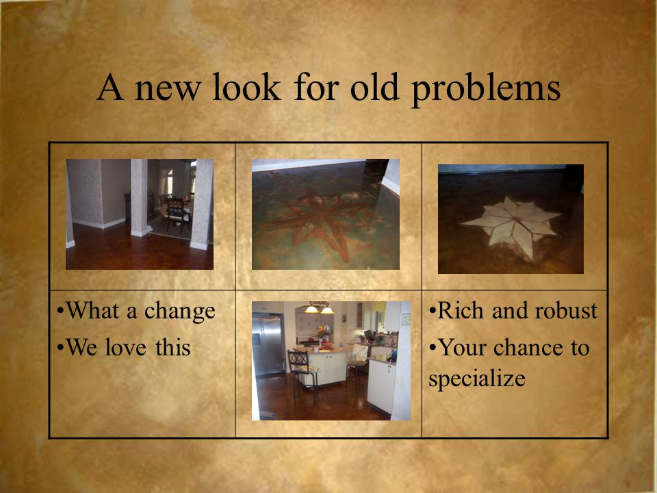 A new look for old problems What a change We love this Rich and robust Your chance to specialize