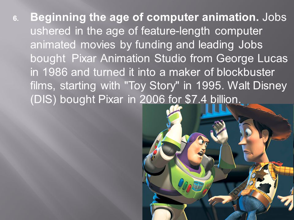 6. Beginning the age of computer animation.