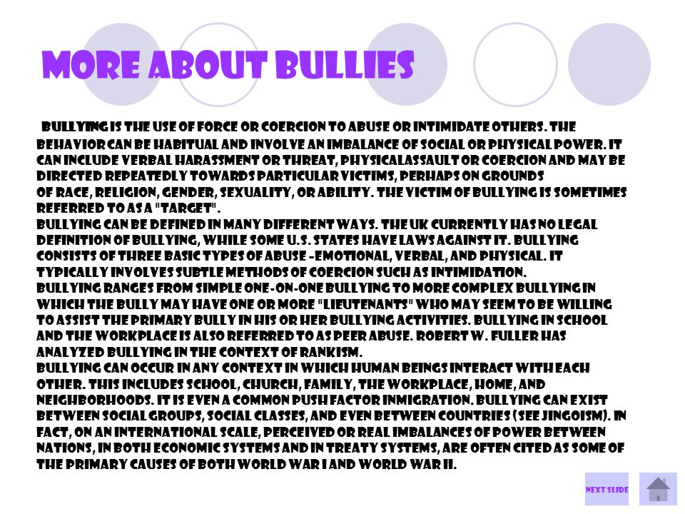 Cyber bullying Cyberbullying is the use of the Internet and related techonologies to harm other people, in a deliberate, repeated, and hostile manner.