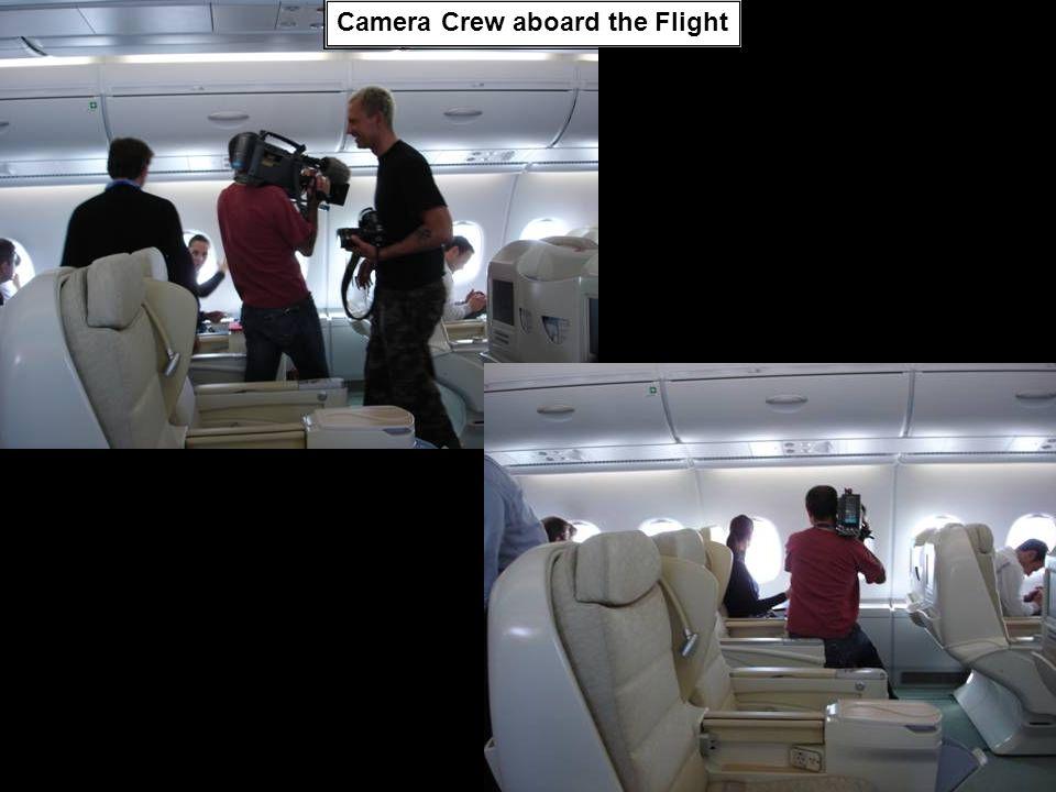 Camera Crew aboard the Flight