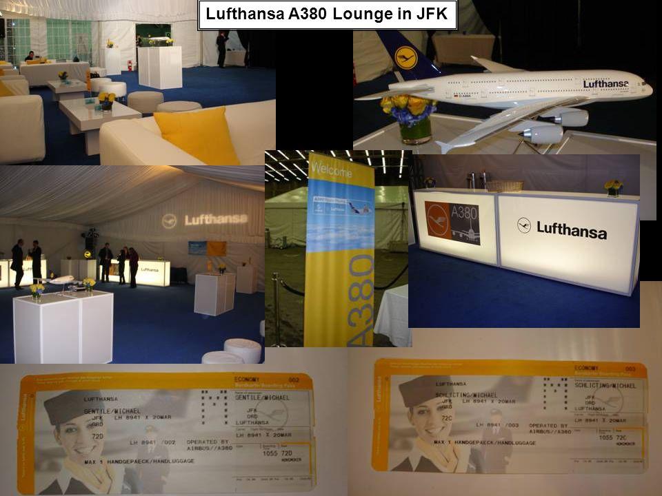 Lufthansa A380 Lounge in JFK