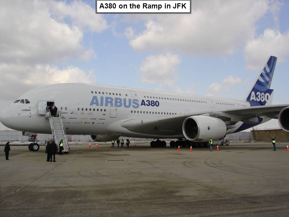A380 on the Ramp in JFK