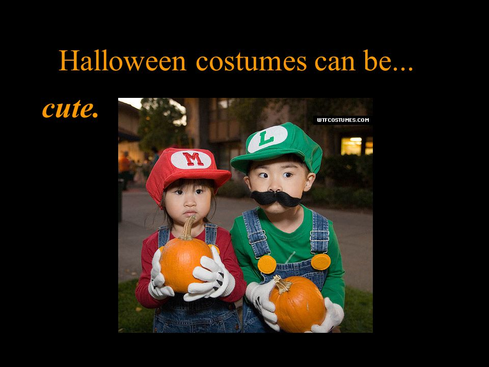 Halloween costumes can be... cute.