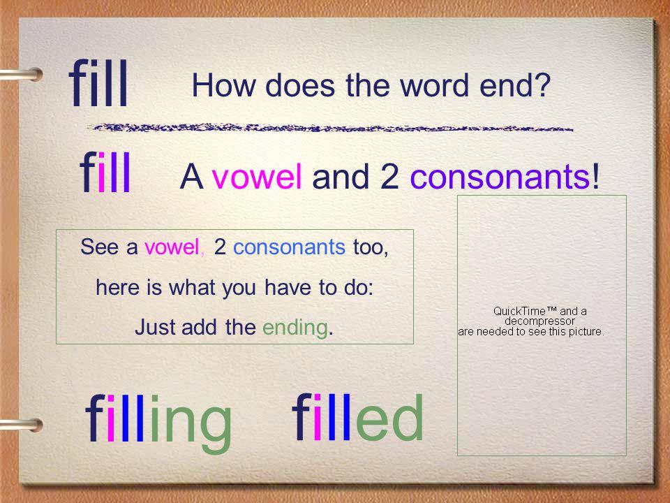 skip A vowel and 1 consonant! skip skipped skipping