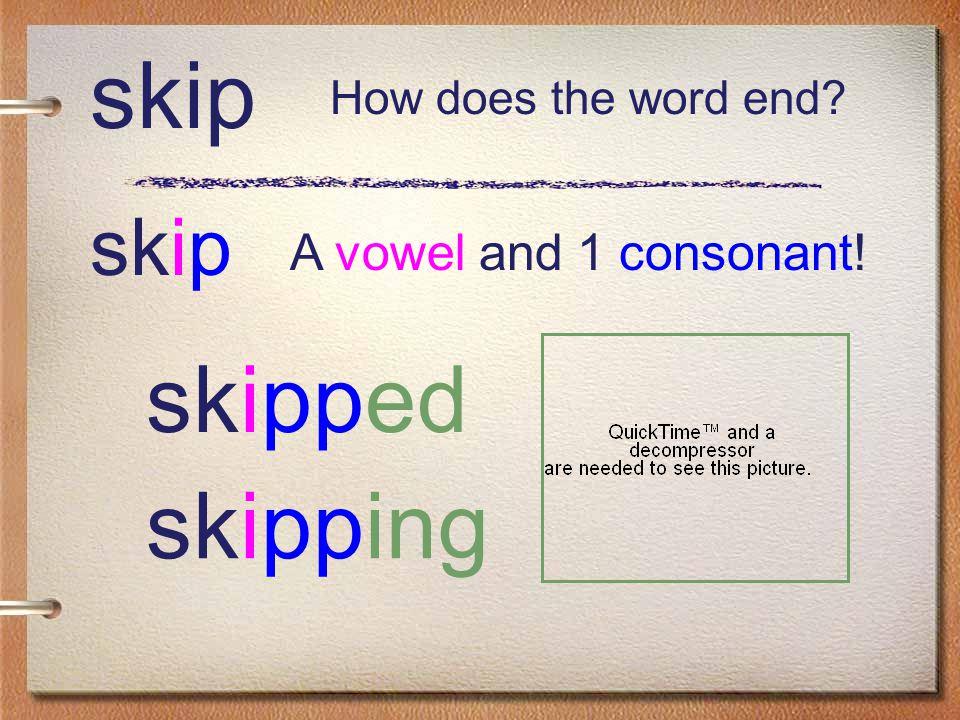 wish wish wished A vowel and 2 consonants! wishing