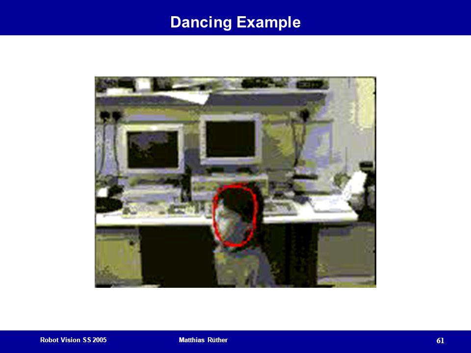Robot Vision SS 2005 Matthias Rüther 61 Dancing Example
