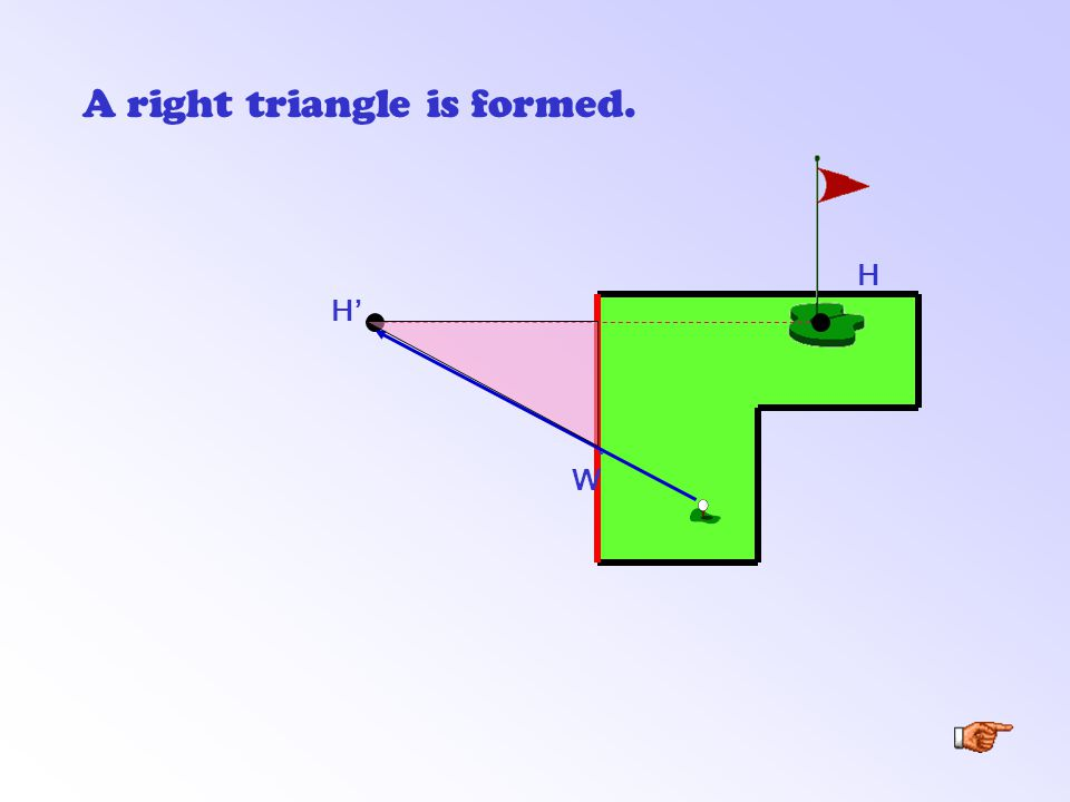 H' A right triangle is formed. H. W