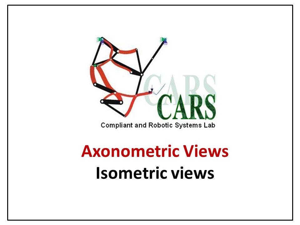 Axonometric Views Isometric views
