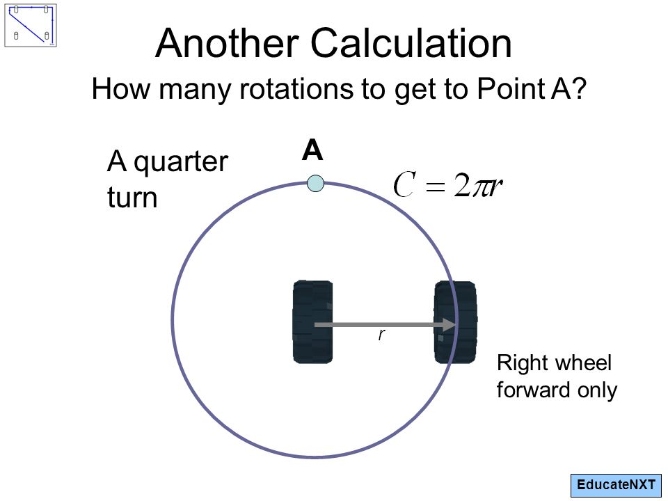 EducateNXT Another Calculation How many rotations to get to Point A.