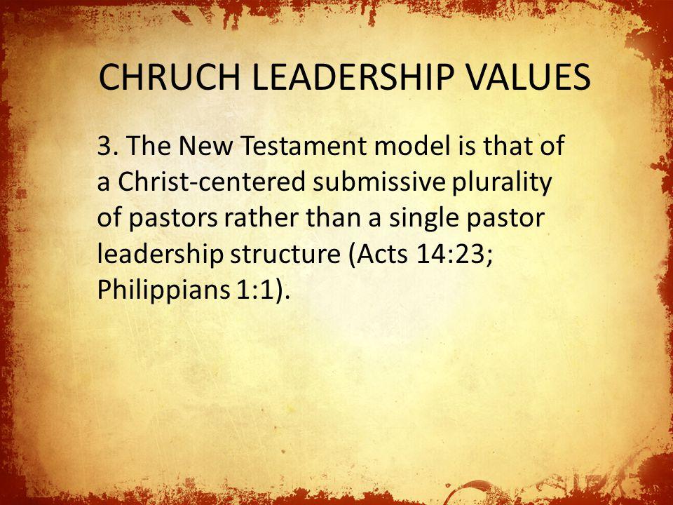 CHRUCH LEADERSHIP VALUES 4.