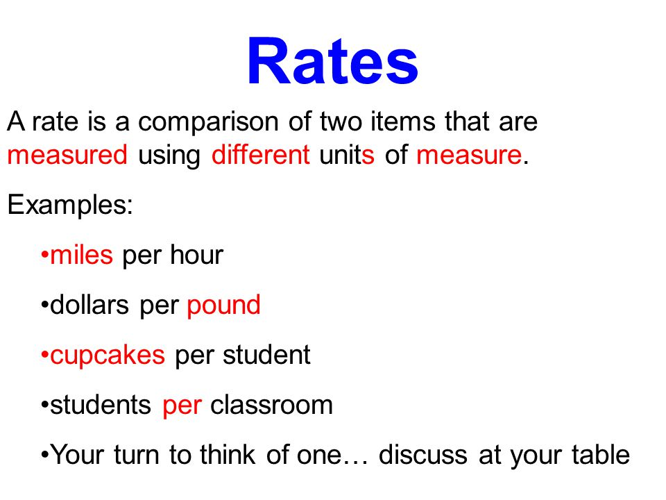 Ratios A ratio is a comparison of two items that are measured using the same unit of measure.