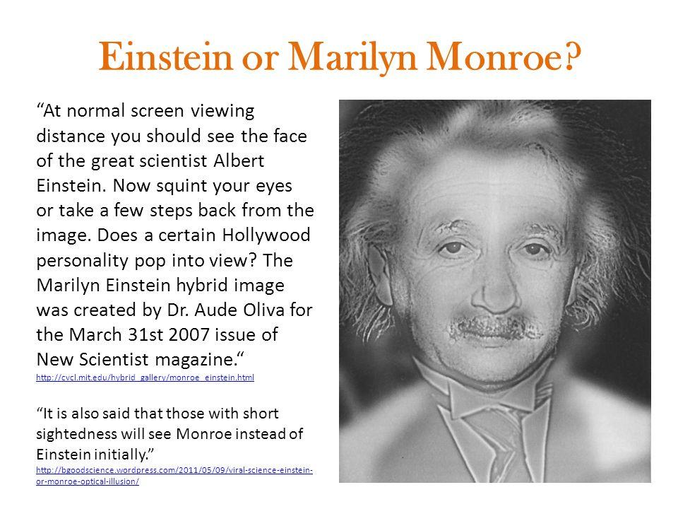 Einstein or Marilyn Monroe.