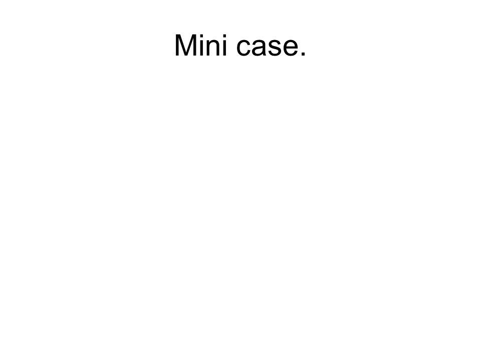 Mini case.