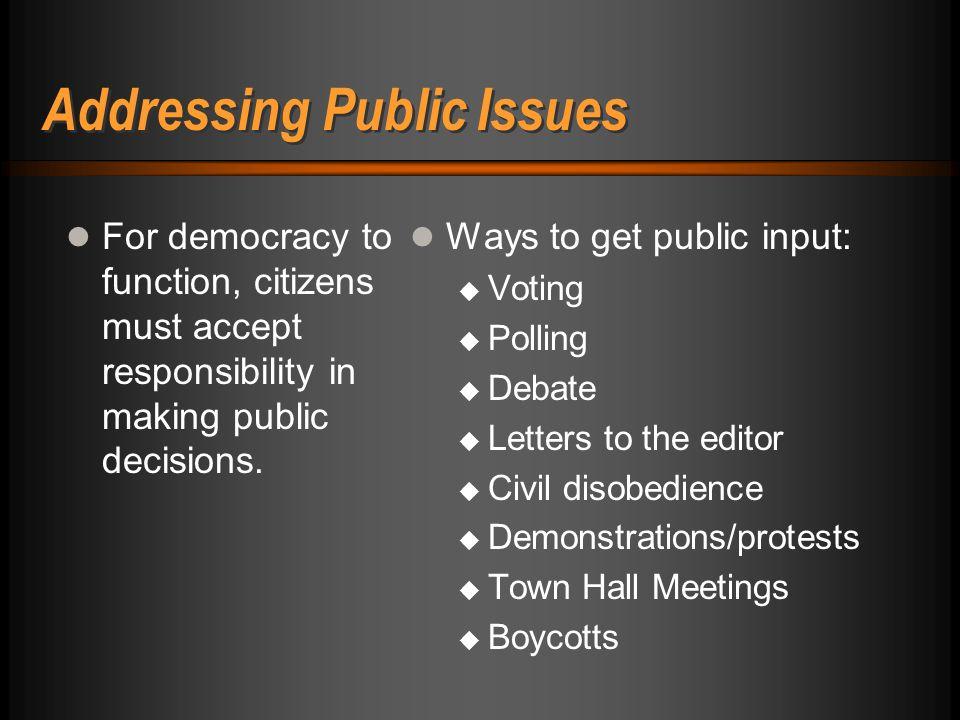 18 Developing a Habit of Public Deliberation