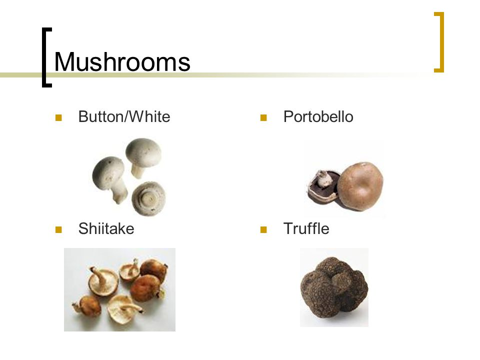 Mushrooms Button/White Portobello Shiitake Truffle