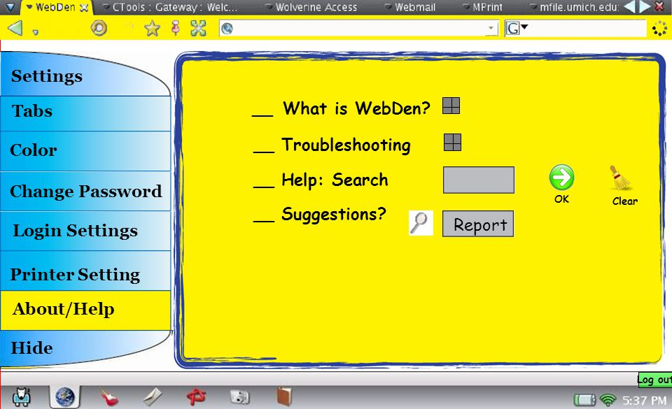__ What is WebDen. __ Troubleshooting __ Help: Search __ Suggestions.
