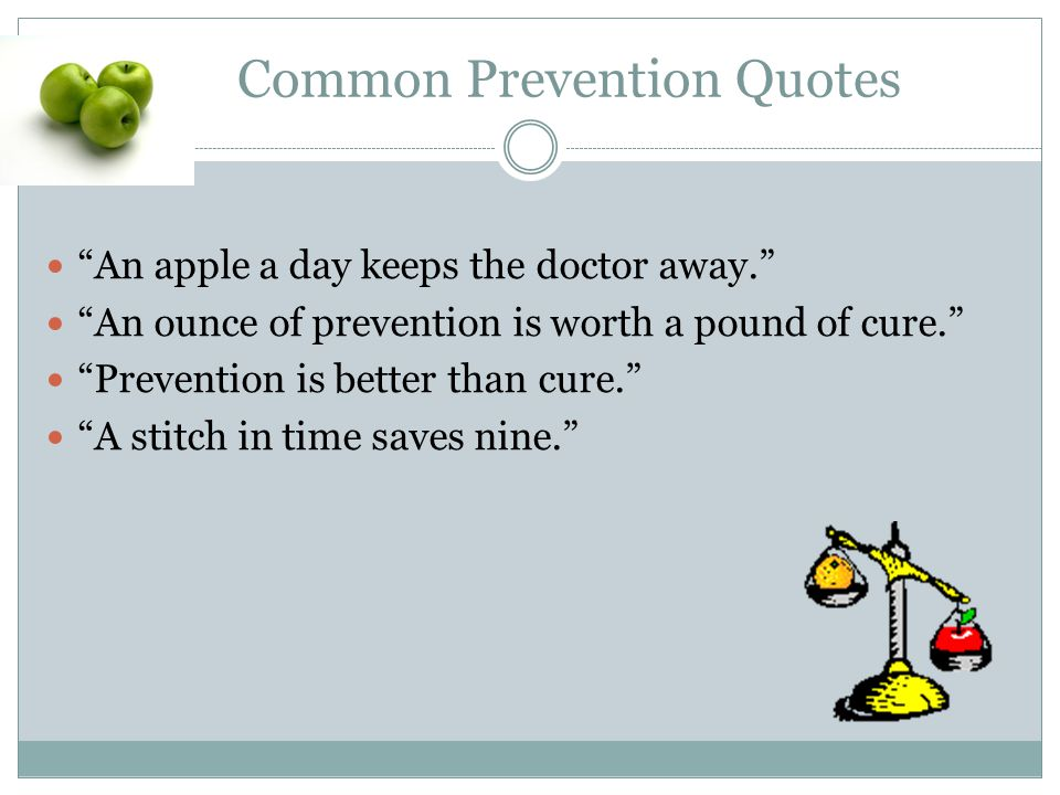 Why Plant the Seed of Prevention.