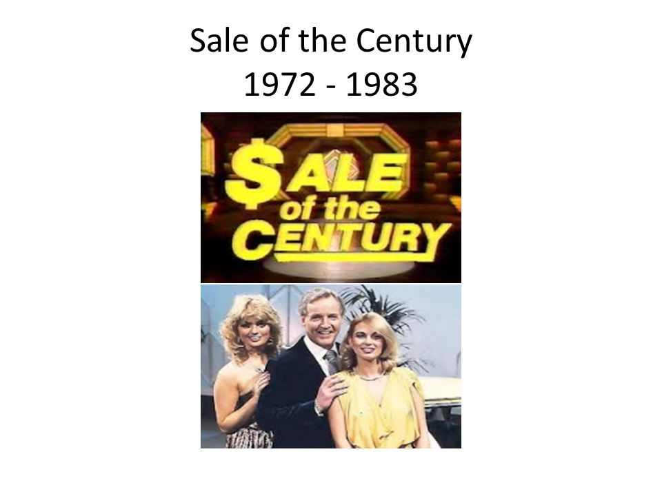 Sale of the Century 1972 - 1983
