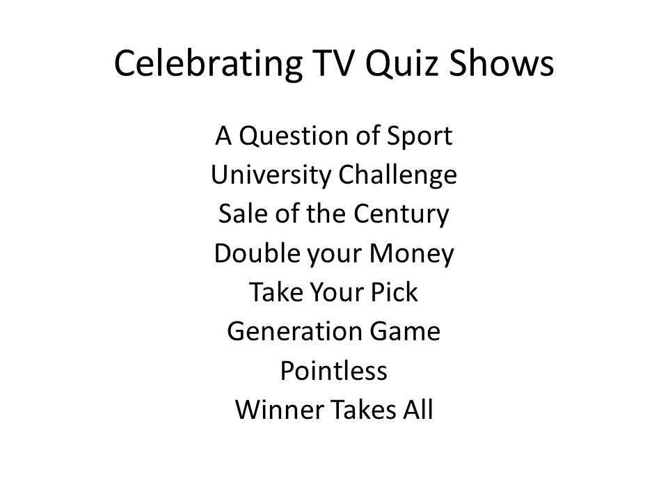 A Question of Sport 2 nd December 1968 – present day