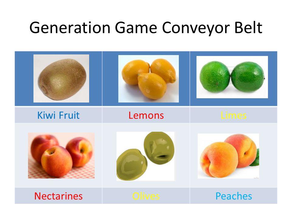 Generation Game Conveyor Belt QuinceRaspberries