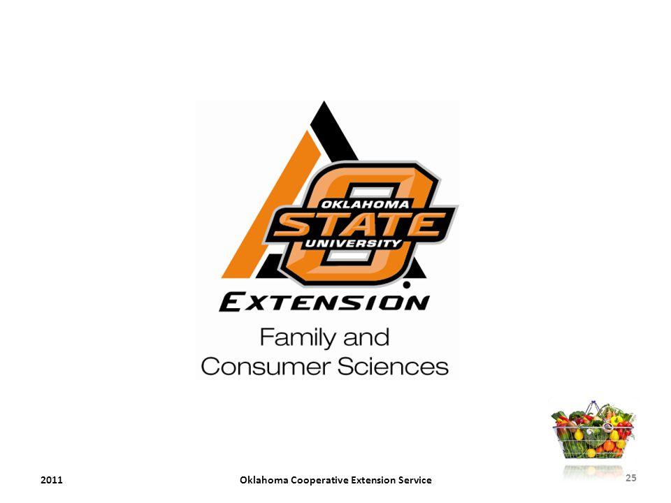 2011Oklahoma Cooperative Extension Service 25