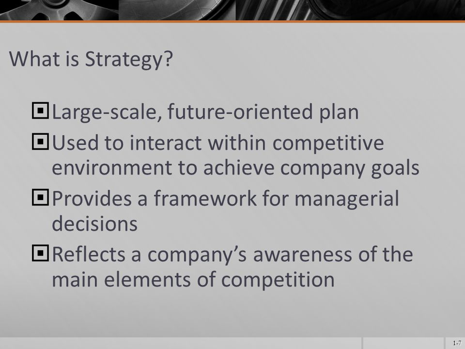 1-7 What is Strategy.