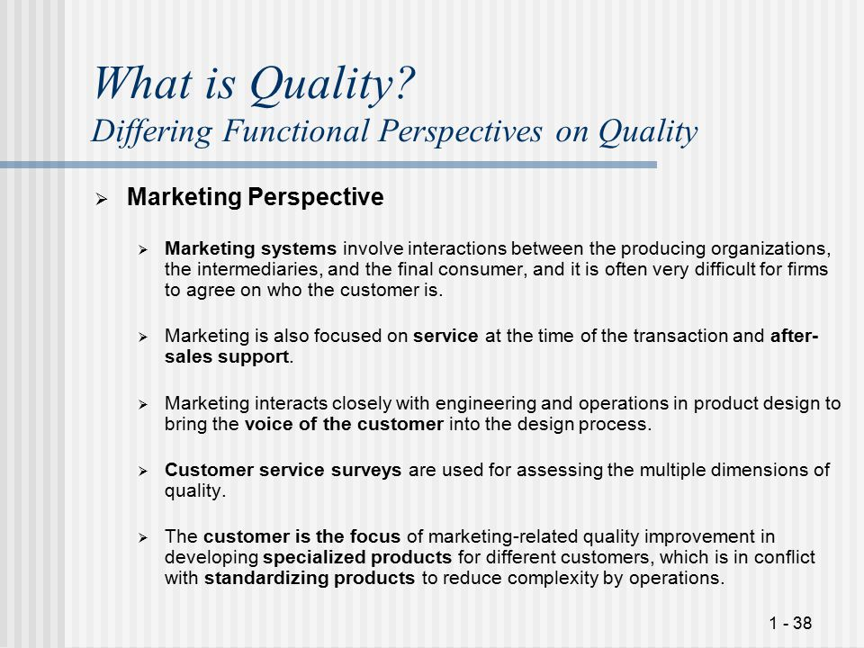 1 - 38 What is Quality.