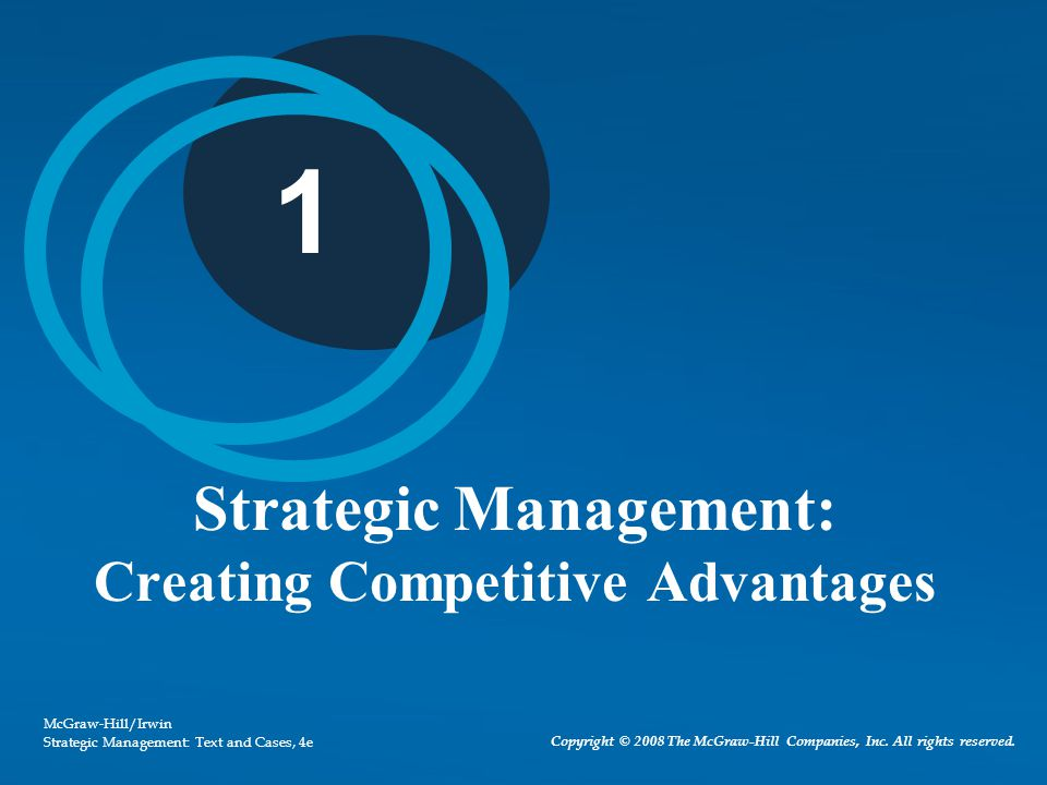 1 - 33 Strategic Management Perspective Integrative view of the organization Assess how functional areas and activities fit together to achieve goals and objectives All managers and employees must take an integrative, strategic perspective on issues facing the organization