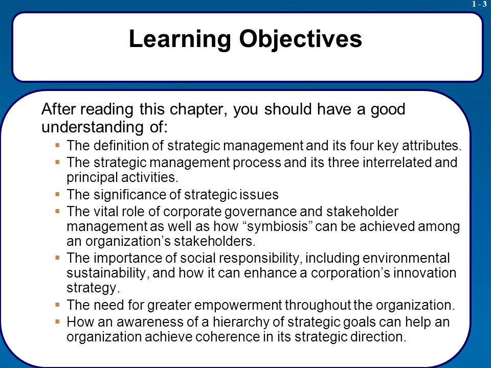 1 - 14 Strategic Issues Results from Strategic Analysis Strategic issues require top-management decisions -Strategic decisions overarch several areas of a firm's operations -Usually only top management has the perspective needed to understand their broad implications -Usually only top managers have the power to authorize necessary resource allocations