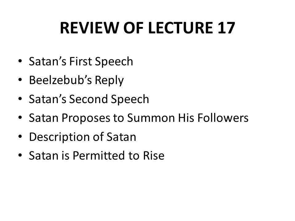 So Satan spake, and him Beelzebub Thus answer d.