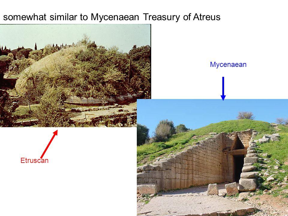somewhat similar to Mycenaean Treasury of Atreus Etruscan Mycenaean