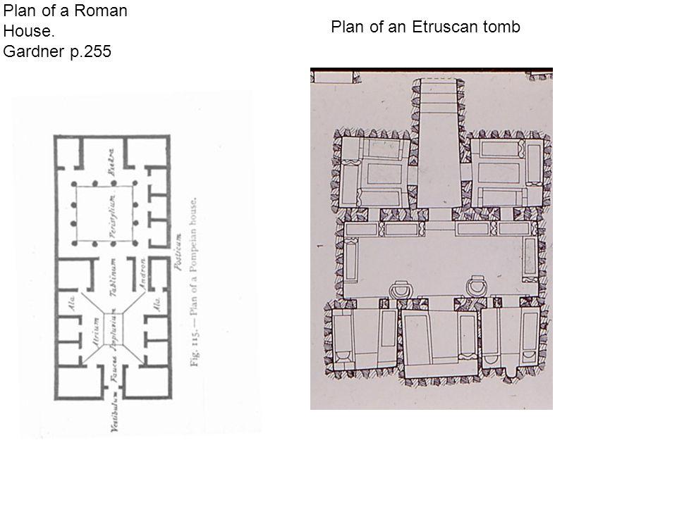 Plan of a Roman House. Gardner p.255 Plan of an Etruscan tomb