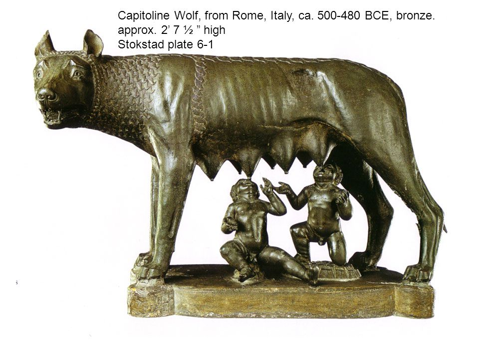 Capitoline Wolf, from Rome, Italy, ca.500-480 BCE, bronze.