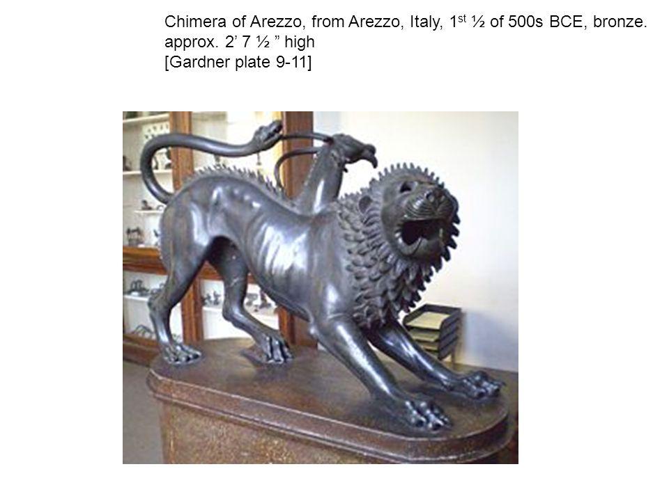 Chimera of Arezzo, from Arezzo, Italy, 1 st ½ of 500s BCE, bronze.