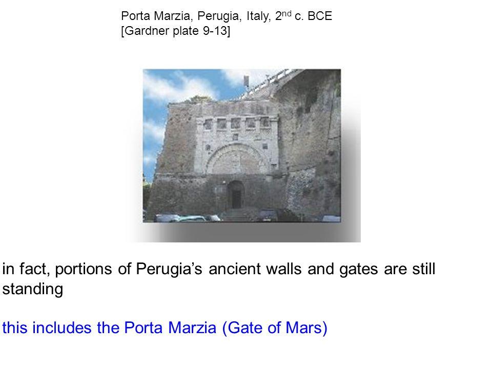 Porta Marzia, Perugia, Italy, 2 nd c.