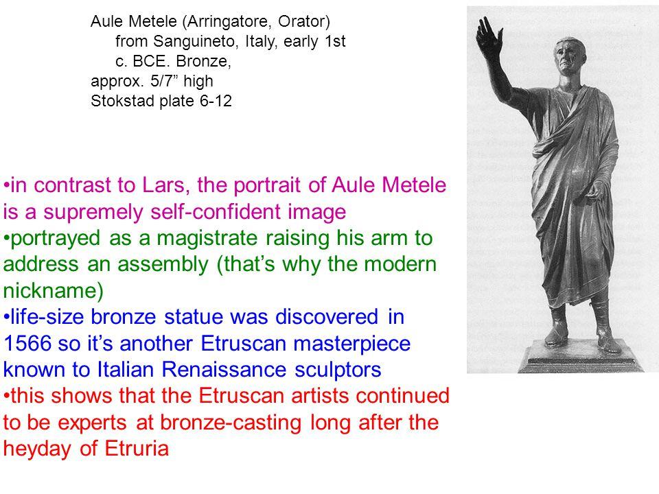 Aule Metele (Arringatore, Orator) from Sanguineto, Italy, early 1st c.