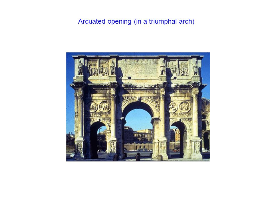 Arcuated opening (in a triumphal arch)