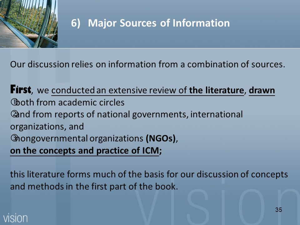 Our discussion relies on information from a combination of sources.