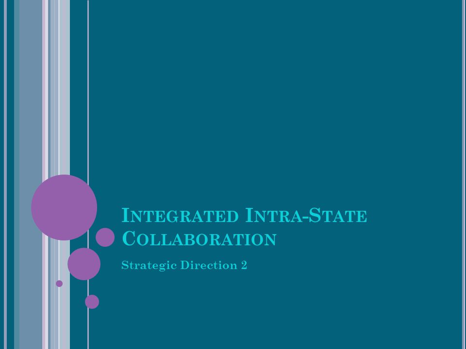 I NTEGRATED I NTRA -S TATE C OLLABORATION Strategic Direction 2