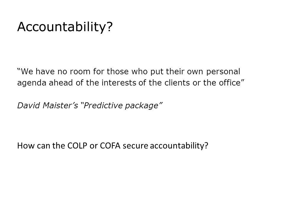 Accountability.