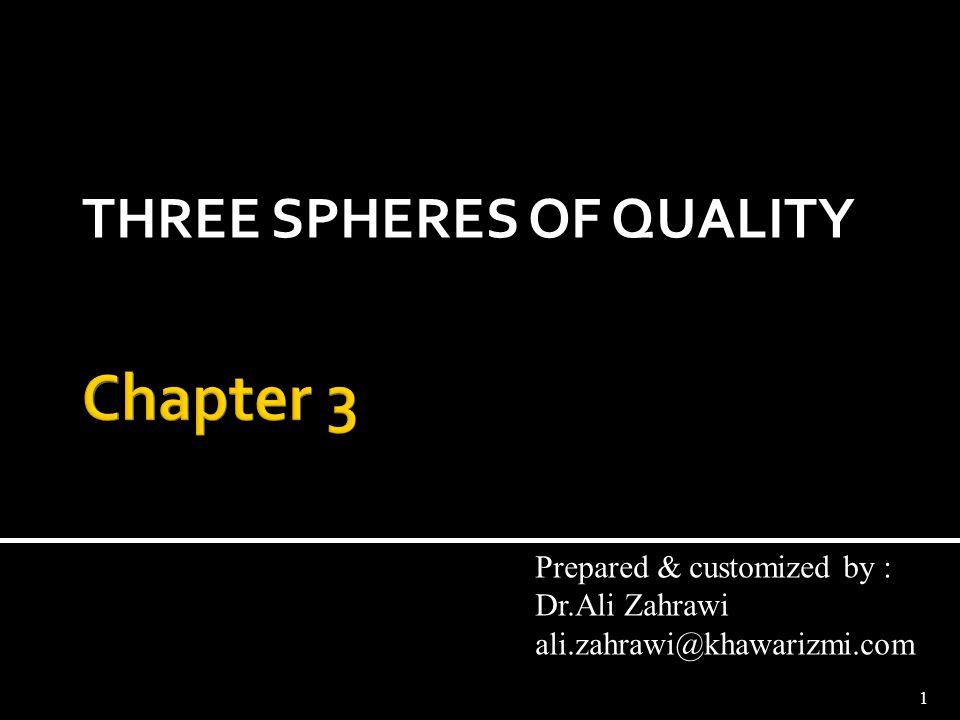 THREE SPHERES OF QUALITY 1 Prepared & customized by : Dr.Ali Zahrawi ali.zahrawi@khawarizmi.com