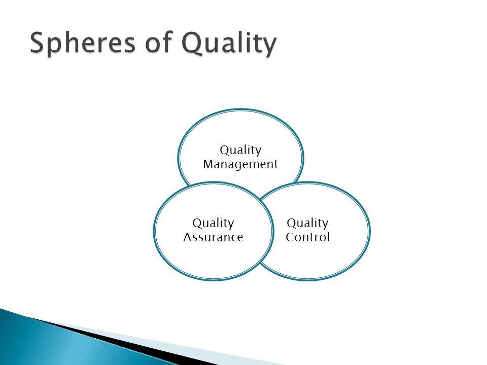Quality Management Quality Control Quality Assurance