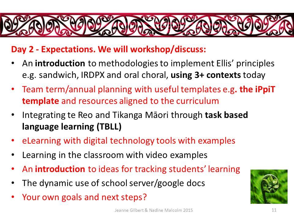 Day 1 - Creating a Quality Te Reo Māori Programme in an English Medium School.